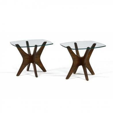adrian-pearsall-pair-of-walnut-and-glass-side-tables