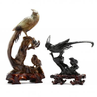 two-chinese-carved-stone-phoenix-birds