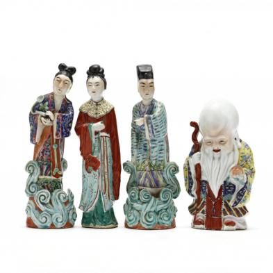 a-group-of-four-chinese-famille-rose-porcelain-sculptures