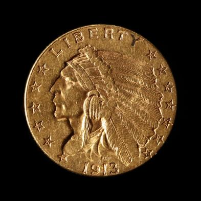1913-2-50-indian-head-gold-quarter-eagle