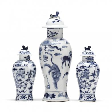 a-group-of-chinese-porcelain-blue-and-white-covered-jars