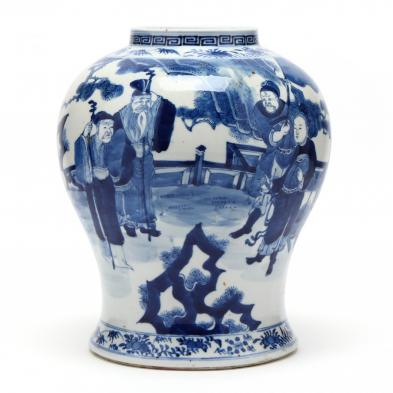 a-chinese-kangxi-style-porcelain-blue-and-white-jar