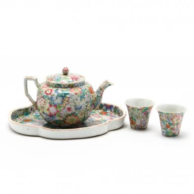a-chinese-porcelain-millefleurs-tea-set-with-tray