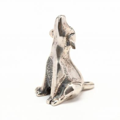 a-sterling-silver-miniature-of-a-howling-dog-by-s-kirk-son