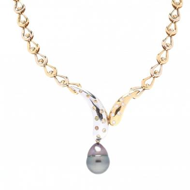 bi-color-18kt-gold-diamond-and-pearl-necklace