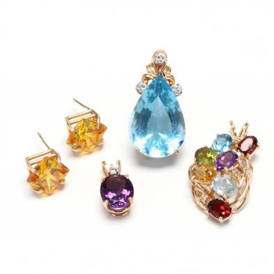 four-gold-and-gemstone-jewelry-items