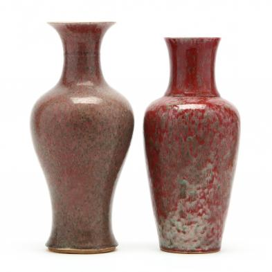 two-chinese-peach-bloom-glazed-vases