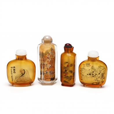 four-chinese-inside-painted-snuff-bottles