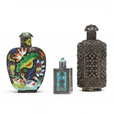 three-chinese-silver-and-metal-snuff-bottles