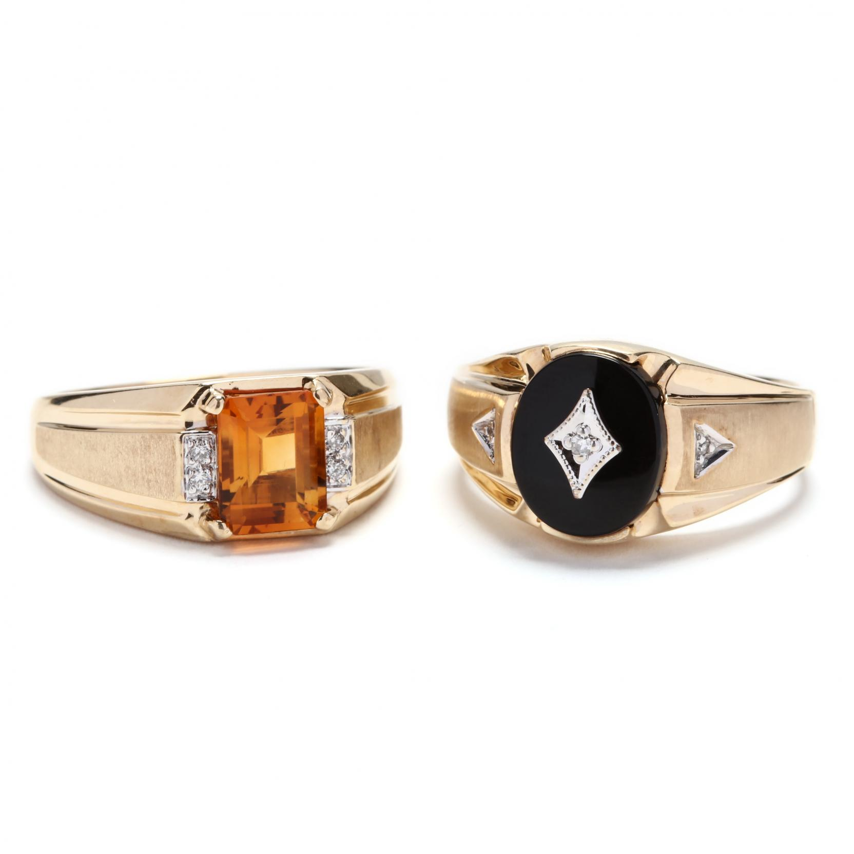 two-gent-s-10kt-gold-and-gemstone-rings