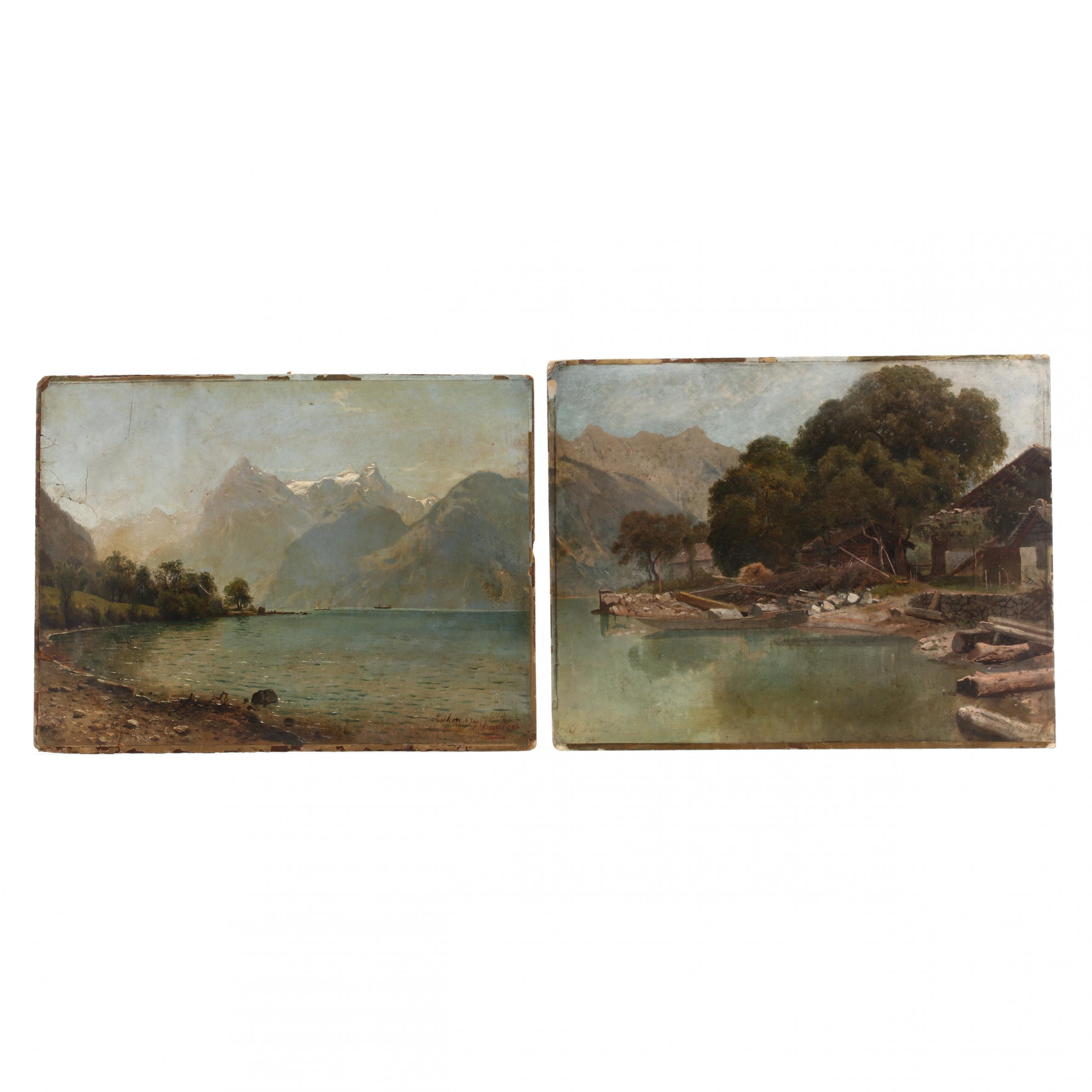johannes-bartholomaus-duntze-german-1823-1895-two-views-of-lake-lucerne
