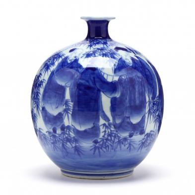 an-asian-porcelain-vase-with-sages-in-bamboo-grove