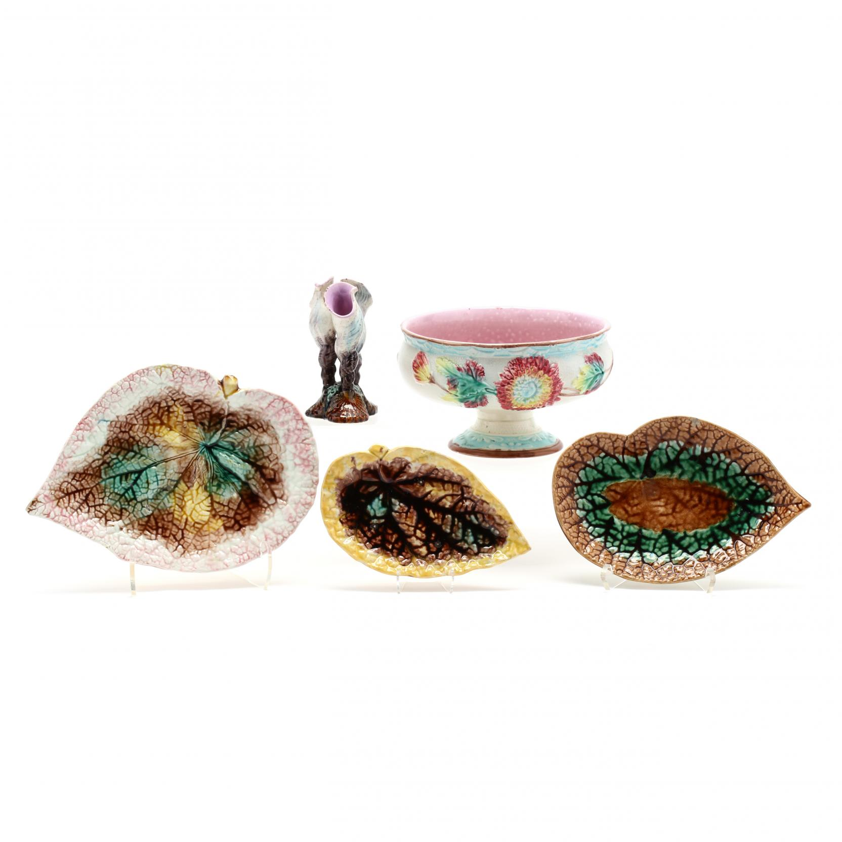five-majolica-pieces
