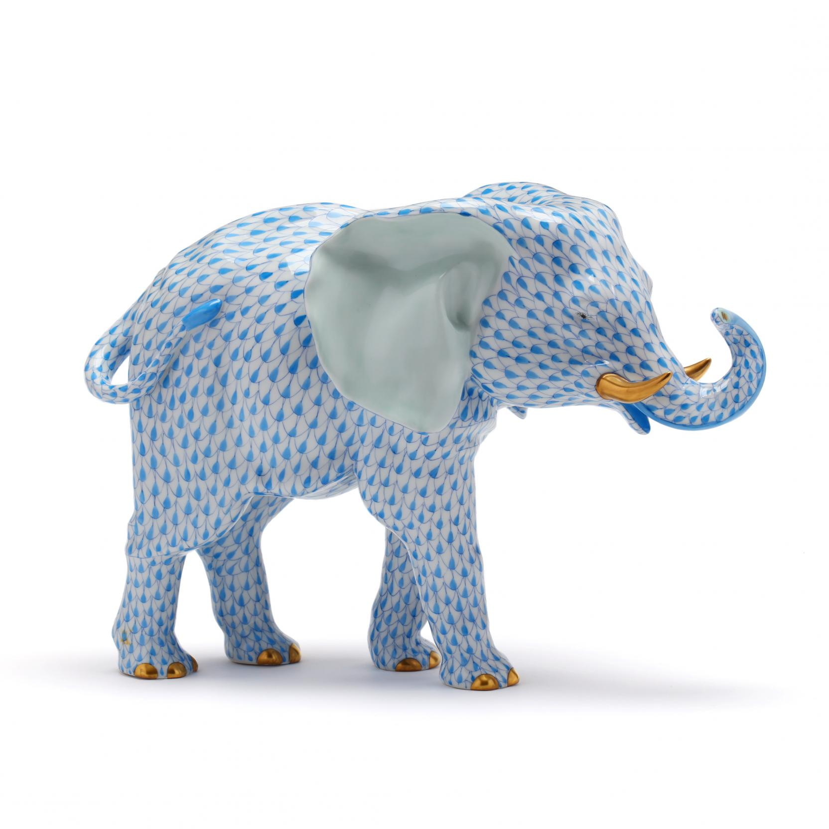 a-large-herend-blue-fishnet-elephant