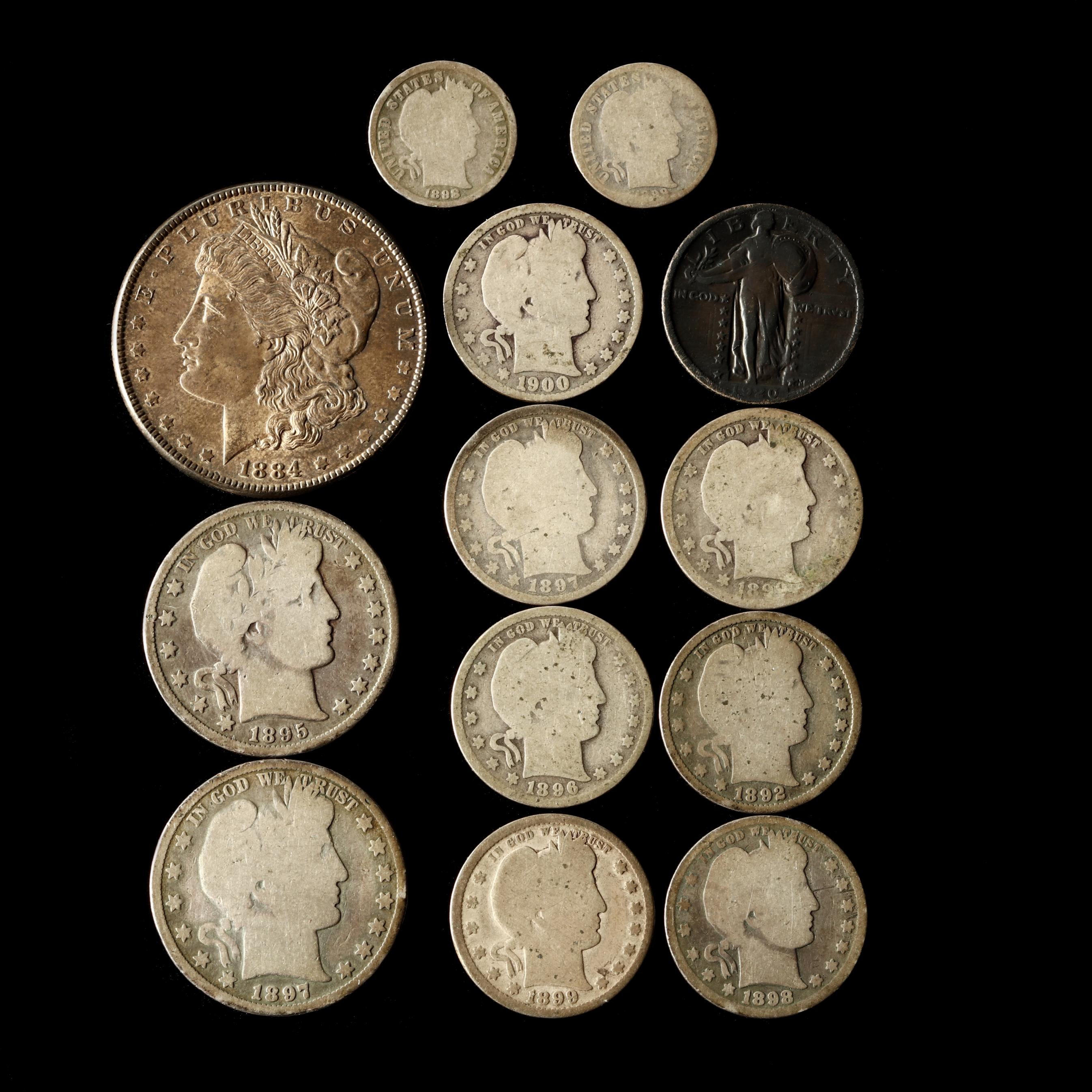 group-of-thirteen-obsolete-u-s-silver-coins