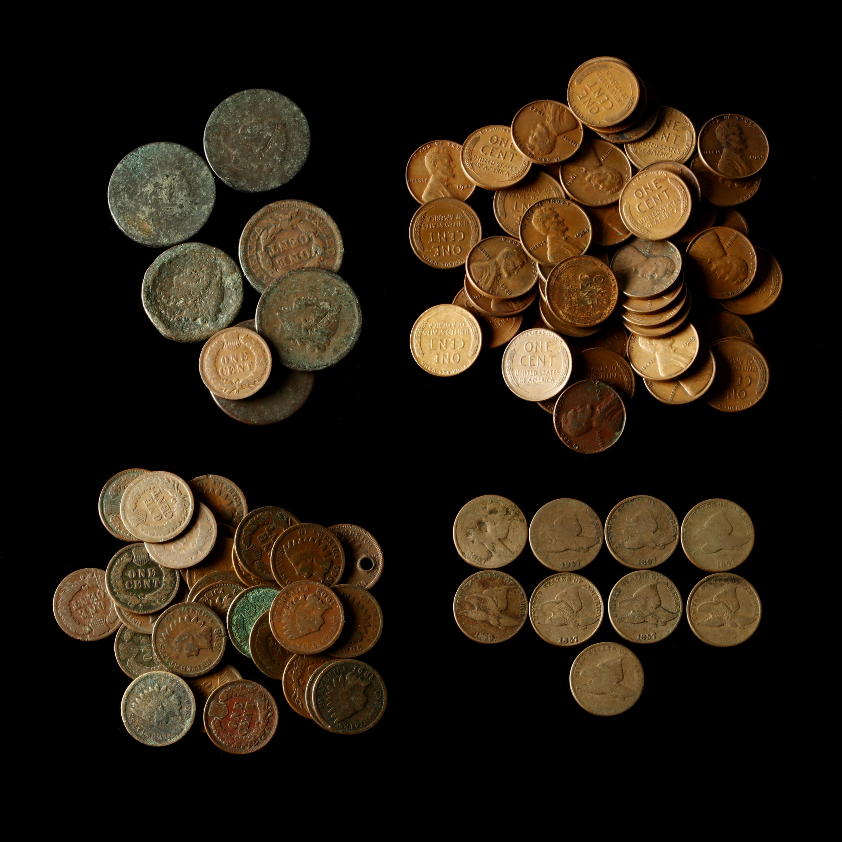 a-small-hoard-of-circulated-obsolete-u-s-cents