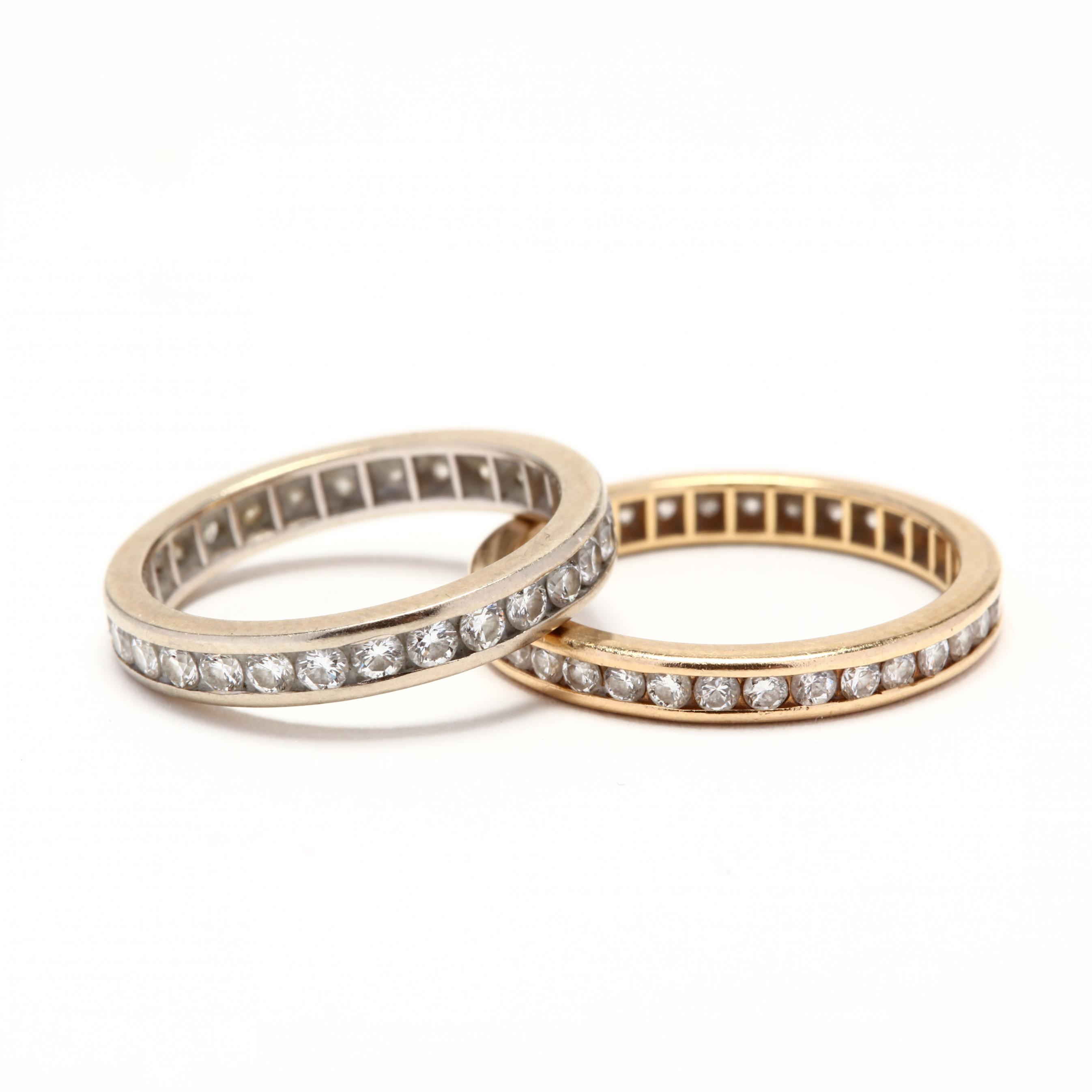 two-gold-and-diamond-eternity-bands