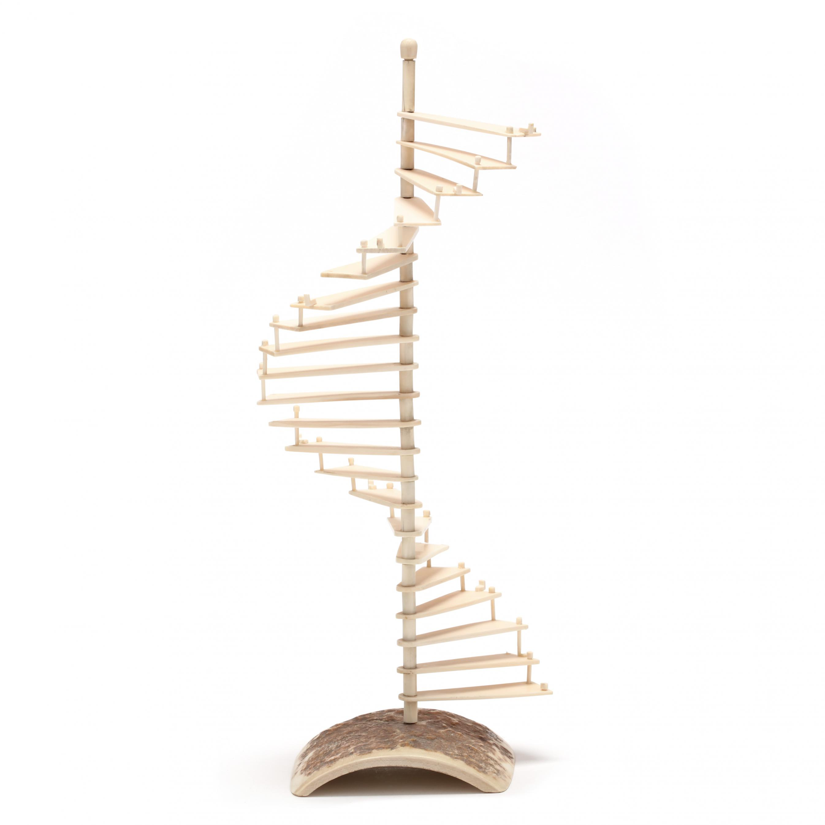 carved-mammoth-ivory-spiral-staircase