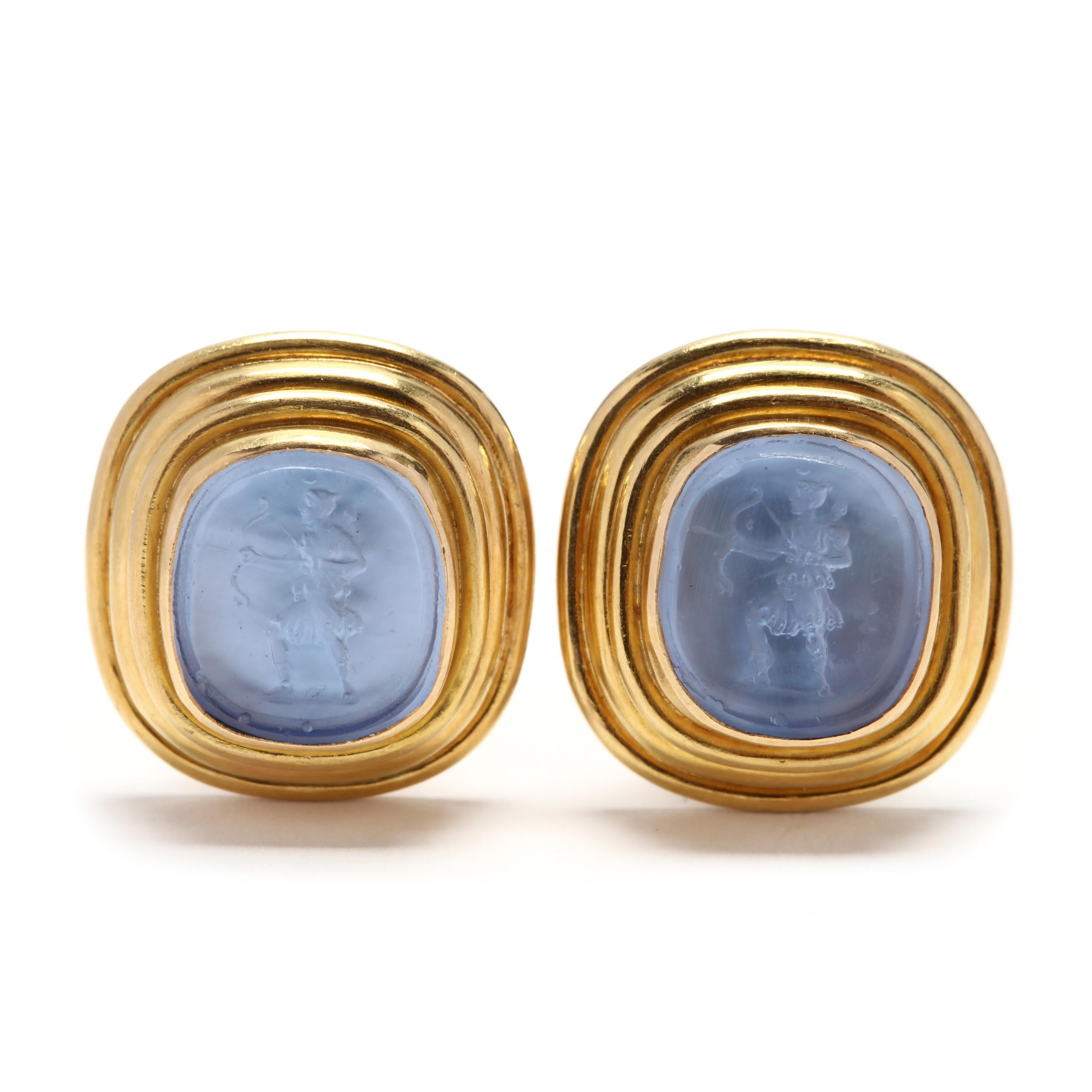 18kt-gold-and-venetian-glass-intaglio-earrings-elizabeth-locke