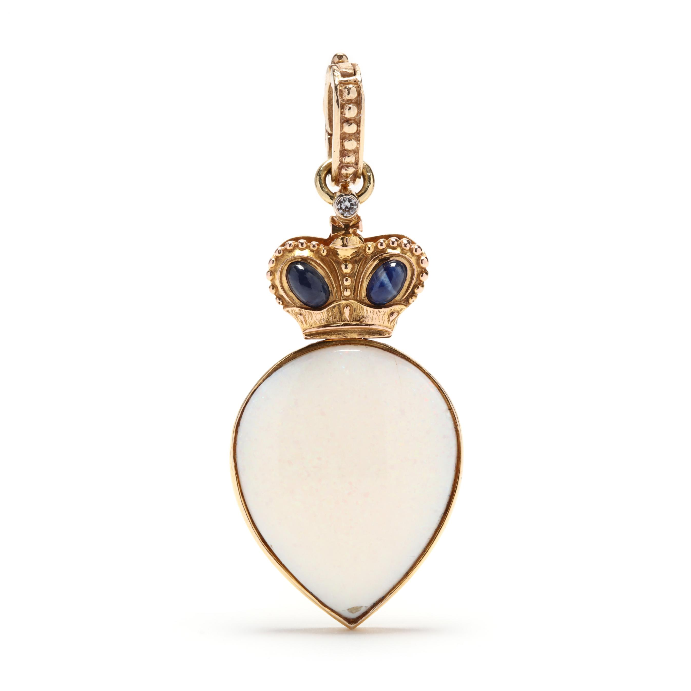 14kt-gold-opal-and-gem-set-pendant-russian