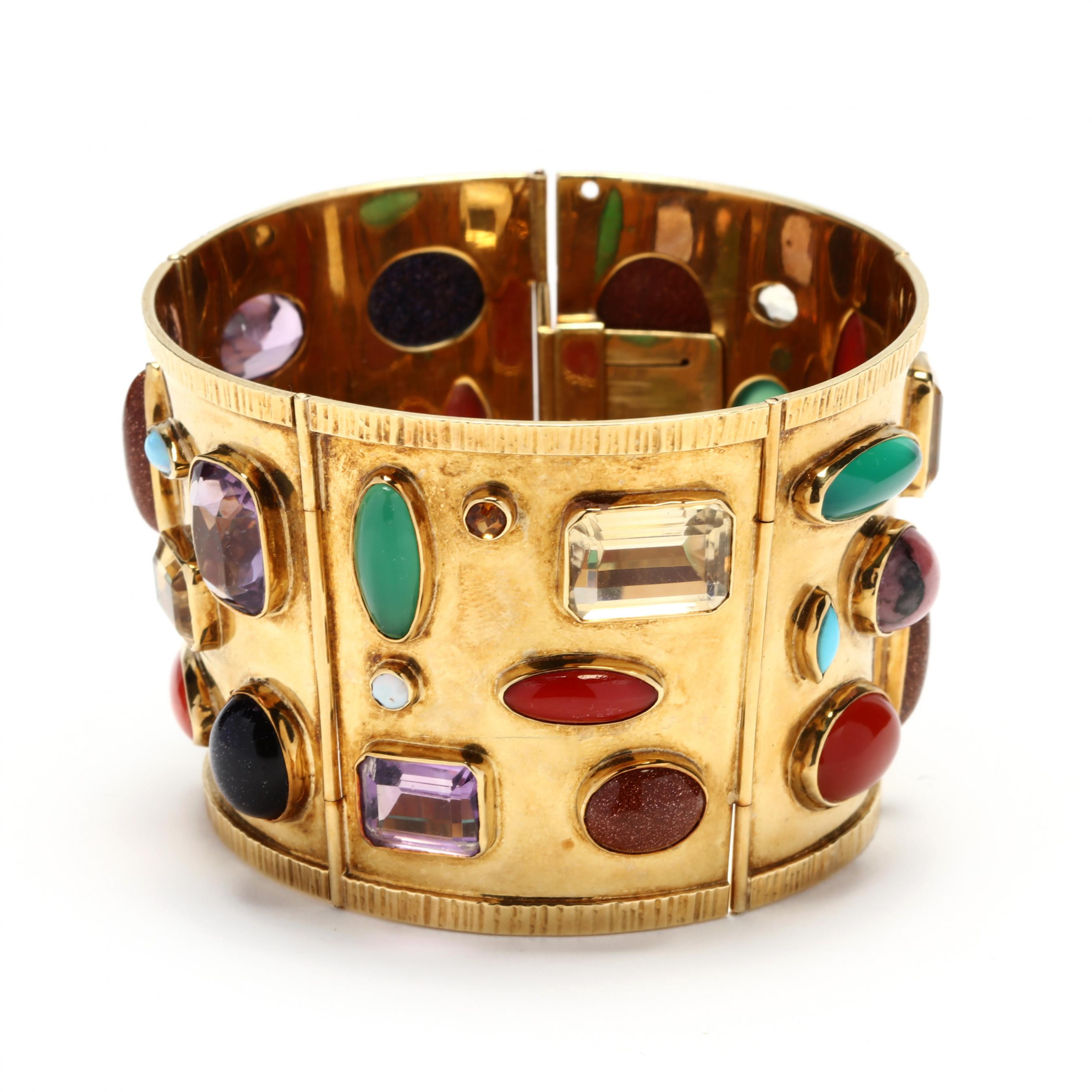 wide-18kt-gold-and-gem-set-bracelet-sanz